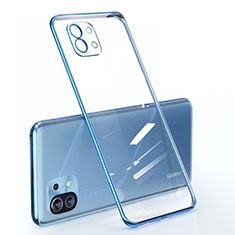 Coque Ultra Fine TPU Souple Housse Etui Transparente pour Xiaomi Mi 11 5G Bleu