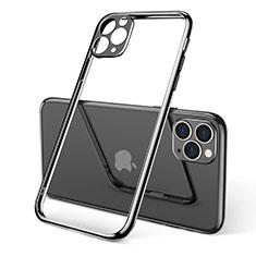 Coque Ultra Fine TPU Souple Housse Etui Transparente S01 pour Apple iPhone 11 Pro Max Noir