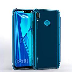 Coque Ultra Fine TPU Souple Housse Etui Transparente S01 pour Huawei Enjoy 9 Plus Bleu