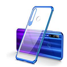Coque Ultra Fine TPU Souple Housse Etui Transparente S01 pour Huawei Honor 20 Lite Bleu