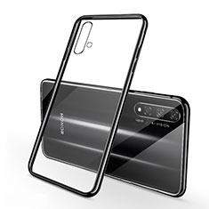 Coque Ultra Fine TPU Souple Housse Etui Transparente S01 pour Huawei Honor 20 Noir