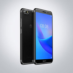 Coque Ultra Fine TPU Souple Housse Etui Transparente S01 pour Huawei Honor Play 7 Noir