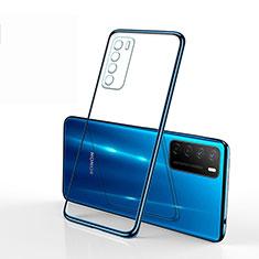 Coque Ultra Fine TPU Souple Housse Etui Transparente S01 pour Huawei Honor Play4 5G Bleu