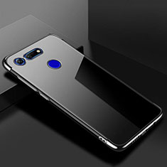Coque Ultra Fine TPU Souple Housse Etui Transparente S01 pour Huawei Honor View 20 Noir