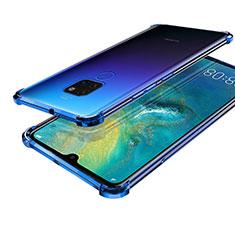 Coque Ultra Fine TPU Souple Housse Etui Transparente S01 pour Huawei Mate 20 Bleu