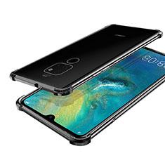 Coque Ultra Fine TPU Souple Housse Etui Transparente S01 pour Huawei Mate 20 Noir