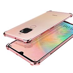 Coque Ultra Fine TPU Souple Housse Etui Transparente S01 pour Huawei Mate 20 Or Rose