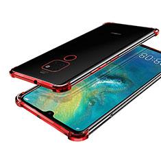 Coque Ultra Fine TPU Souple Housse Etui Transparente S01 pour Huawei Mate 20 Rouge