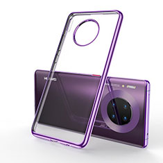 Coque Ultra Fine TPU Souple Housse Etui Transparente S01 pour Huawei Mate 30 Pro Violet