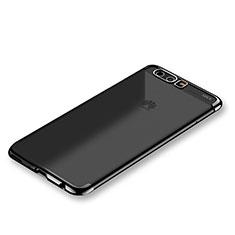 Coque Ultra Fine TPU Souple Housse Etui Transparente S01 pour Huawei P10 Plus Noir