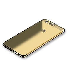 Coque Ultra Fine TPU Souple Housse Etui Transparente S01 pour Huawei P10 Plus Or