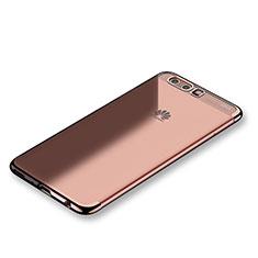 Coque Ultra Fine TPU Souple Housse Etui Transparente S01 pour Huawei P10 Plus Or Rose