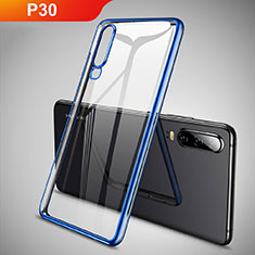 Coque Ultra Fine TPU Souple Housse Etui Transparente S01 pour Huawei P30 Bleu