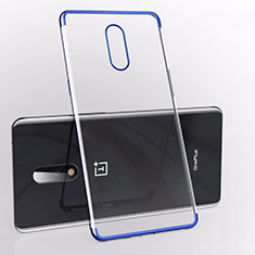 Coque Ultra Fine TPU Souple Housse Etui Transparente S01 pour OnePlus 7 Bleu