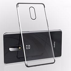 Coque Ultra Fine TPU Souple Housse Etui Transparente S01 pour OnePlus 7 Noir