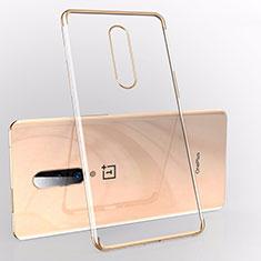 Coque Ultra Fine TPU Souple Housse Etui Transparente S01 pour OnePlus 7 Or