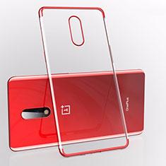 Coque Ultra Fine TPU Souple Housse Etui Transparente S01 pour OnePlus 7 Rouge