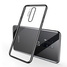 Coque Ultra Fine TPU Souple Housse Etui Transparente S01 pour OnePlus 8 Pro Noir