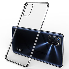 Coque Ultra Fine TPU Souple Housse Etui Transparente S01 pour Oppo A52 Noir