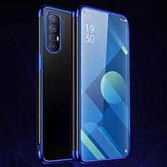 Coque Ultra Fine TPU Souple Housse Etui Transparente S01 pour Oppo Find X2 Neo Bleu