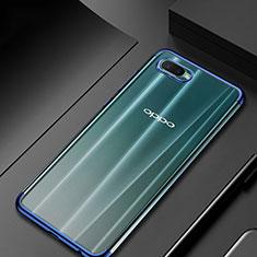 Coque Ultra Fine TPU Souple Housse Etui Transparente S01 pour Oppo R15X Bleu