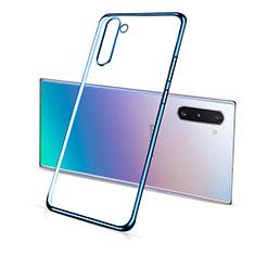 Coque Ultra Fine TPU Souple Housse Etui Transparente S01 pour Samsung Galaxy Note 10 5G Bleu