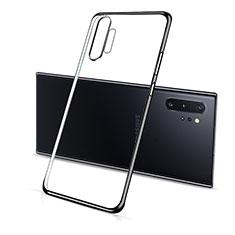 Coque Ultra Fine TPU Souple Housse Etui Transparente S01 pour Samsung Galaxy Note 10 Plus 5G Noir