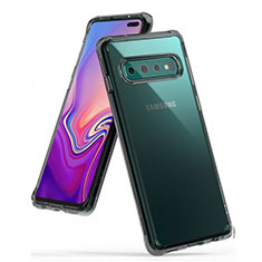 Coque Ultra Fine TPU Souple Housse Etui Transparente S01 pour Samsung Galaxy S10 Plus Gris