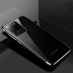 Coque Ultra Fine TPU Souple Housse Etui Transparente S01 pour Samsung Galaxy S20 Ultra 5G Noir