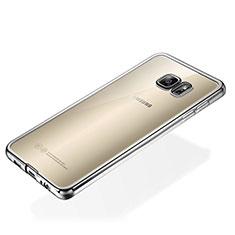 Coque Ultra Fine TPU Souple Housse Etui Transparente S01 pour Samsung Galaxy S6 Edge+ Plus SM-G928F Argent