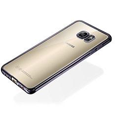 Coque Ultra Fine TPU Souple Housse Etui Transparente S01 pour Samsung Galaxy S6 Edge+ Plus SM-G928F Noir