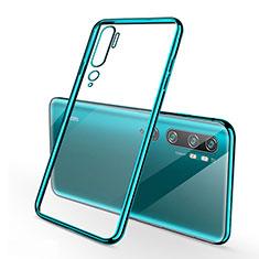 Coque Ultra Fine TPU Souple Housse Etui Transparente S01 pour Xiaomi Mi Note 10 Pro Cyan