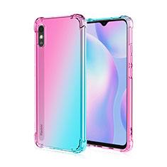 Coque Ultra Fine TPU Souple Housse Etui Transparente S01 pour Xiaomi Redmi 9i Rose