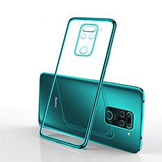 Coque Ultra Fine TPU Souple Housse Etui Transparente S01 pour Xiaomi Redmi Note 9 Vert