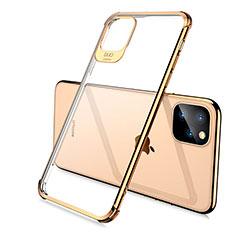 Coque Ultra Fine TPU Souple Housse Etui Transparente S02 pour Apple iPhone 11 Pro Max Or