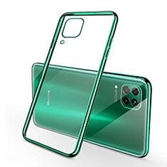 Coque Ultra Fine TPU Souple Housse Etui Transparente S02 pour Huawei P40 Lite Vert