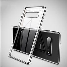 Coque Ultra Fine TPU Souple Housse Etui Transparente S02 pour Samsung Galaxy S10 Argent