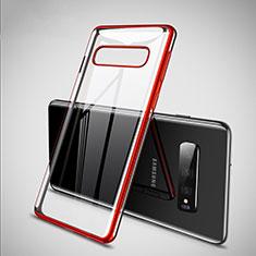 Coque Ultra Fine TPU Souple Housse Etui Transparente S02 pour Samsung Galaxy S10 Rouge