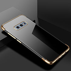 Coque Ultra Fine TPU Souple Housse Etui Transparente S02 pour Samsung Galaxy S10e Or