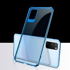 Coque Ultra Fine TPU Souple Housse Etui Transparente S02 pour Samsung Galaxy S20 5G Bleu