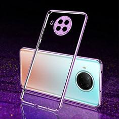 Coque Ultra Fine TPU Souple Housse Etui Transparente S02 pour Xiaomi Mi 10T Lite 5G Violet
