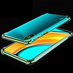 Coque Ultra Fine TPU Souple Housse Etui Transparente S02 pour Xiaomi Redmi 9A Vert