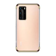 Coque Ultra Fine TPU Souple Housse Etui Transparente S03 pour Huawei P40 Pro Or