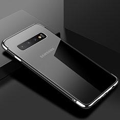 Coque Ultra Fine TPU Souple Housse Etui Transparente S03 pour Samsung Galaxy S10 Argent