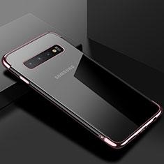 Coque Ultra Fine TPU Souple Housse Etui Transparente S03 pour Samsung Galaxy S10 Or Rose