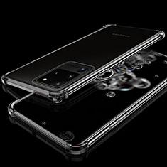 Coque Ultra Fine TPU Souple Housse Etui Transparente S03 pour Samsung Galaxy S20 Ultra Noir