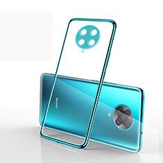Coque Ultra Fine TPU Souple Housse Etui Transparente S03 pour Xiaomi Redmi K30 Pro 5G Cyan