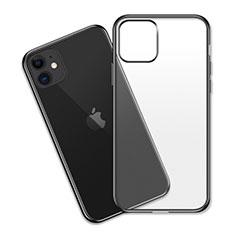 Coque Ultra Fine TPU Souple Housse Etui Transparente S04 pour Apple iPhone 11 Noir