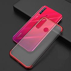 Coque Ultra Fine TPU Souple Housse Etui Transparente S04 pour Huawei Honor 20 Lite Rouge