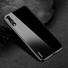 Coque Ultra Fine TPU Souple Housse Etui Transparente S04 pour Huawei P20 Pro Noir